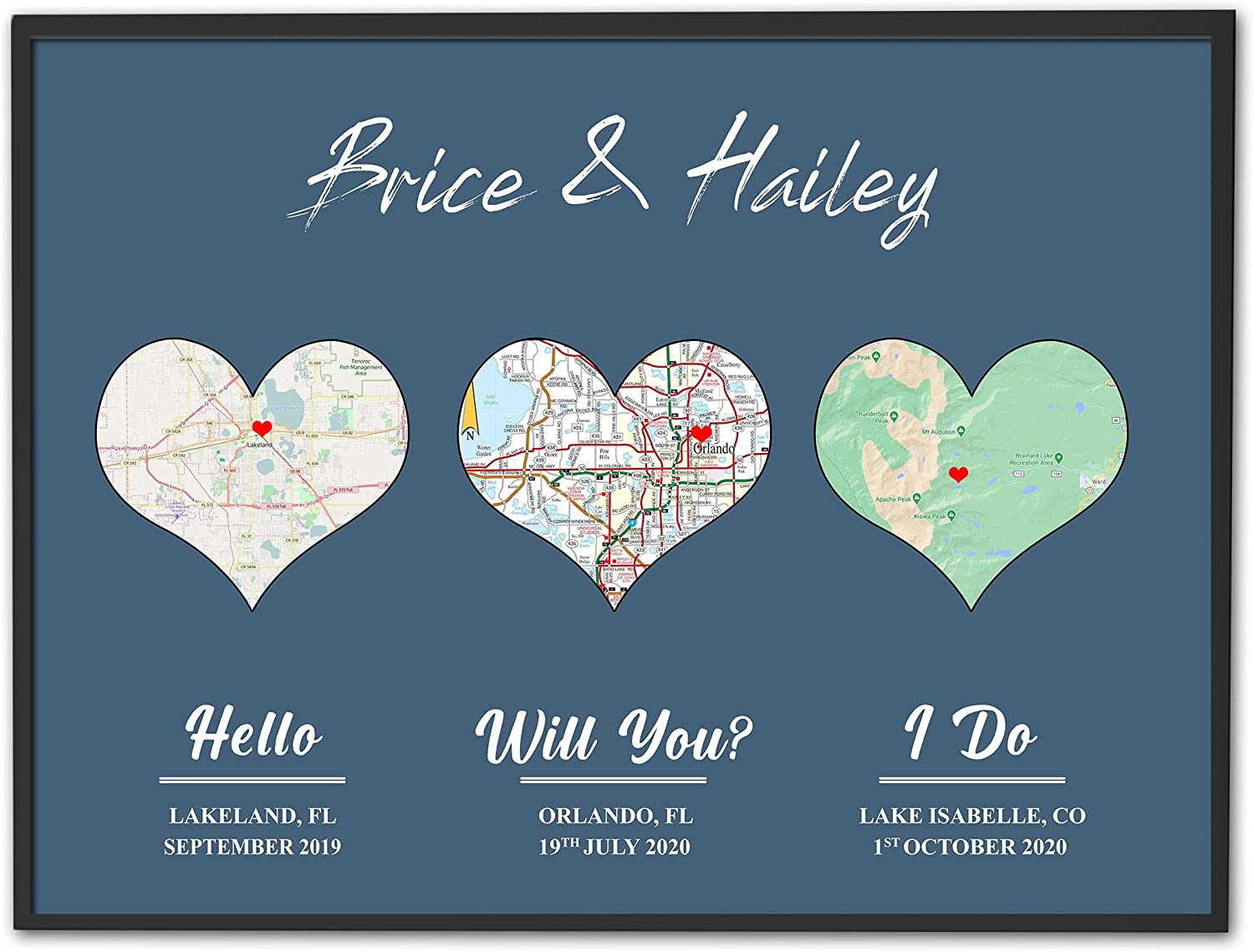 Map of Couple Love