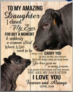 """The """"My Daughter"""" Wooden Wall Plaque"""