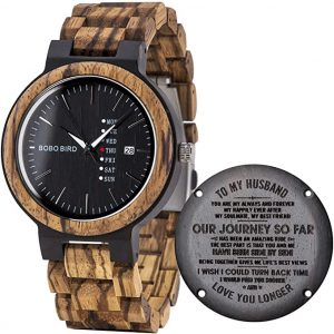 Watch wood engraved
